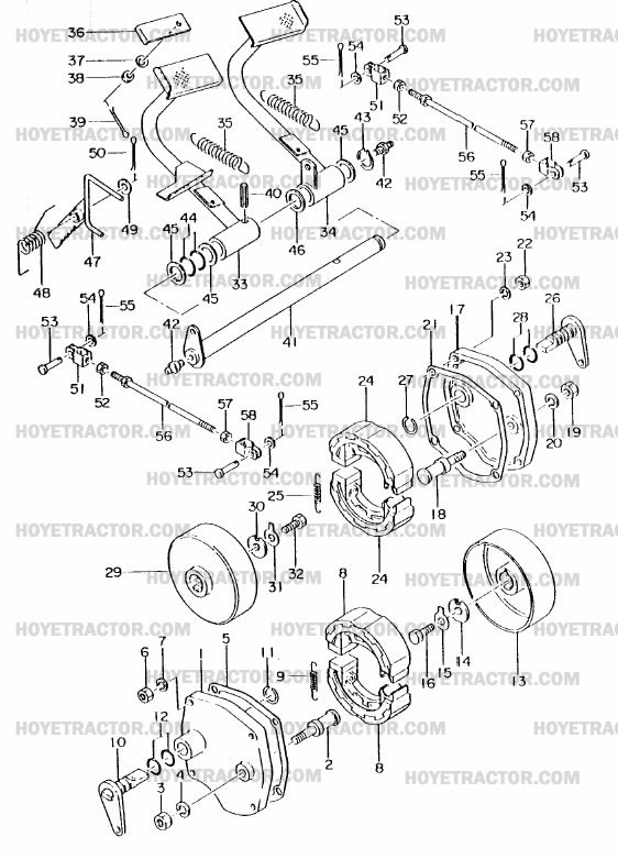 brakes  yanmar tractor parts