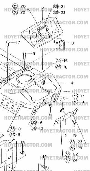 dash  yanmar tractor parts