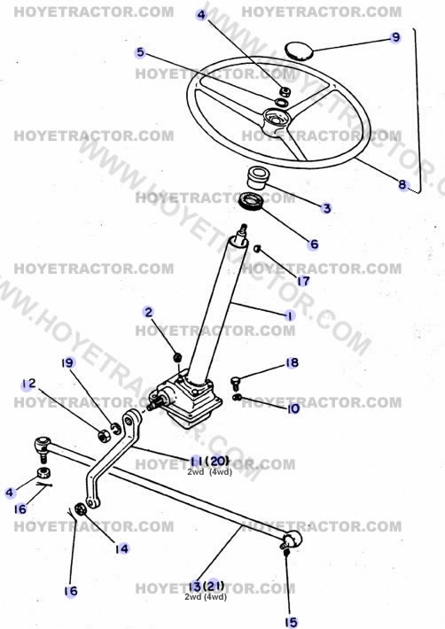 External Parts Of A Tractor : Steering external yanmar tractor parts