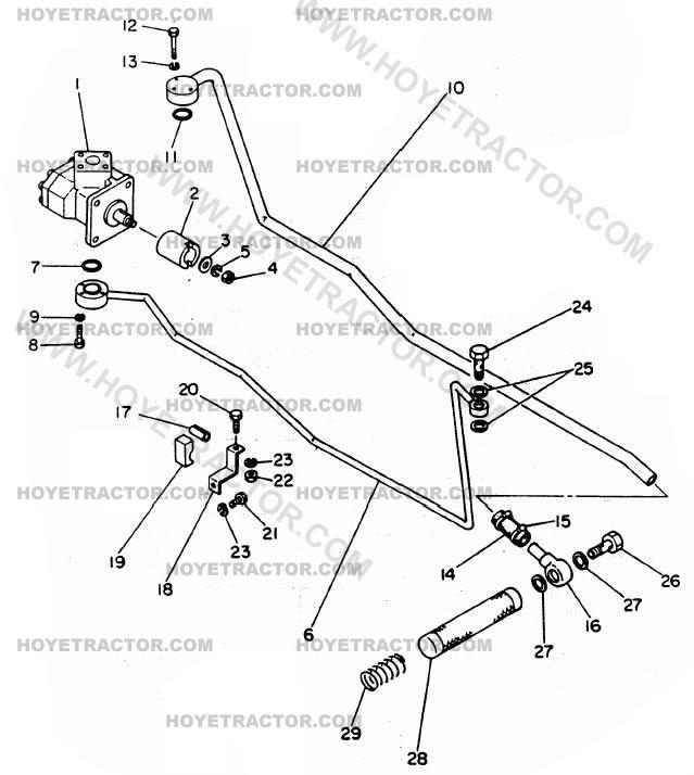 1500 Tractor Hydraulic Parts : Hydraulic system yanmar tractor parts