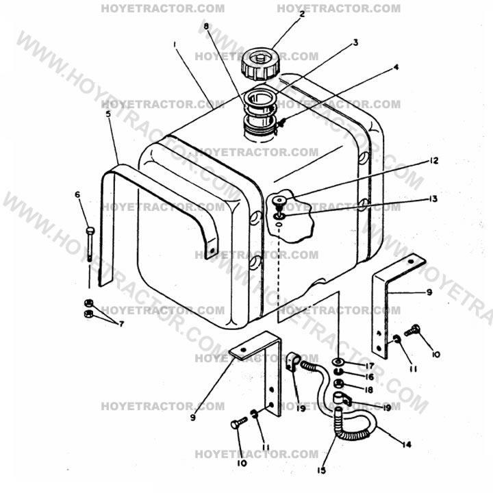 1500 Tractor Parts : Fuel tank yanmar tractor parts