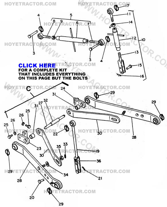 Kubota 3pt Hitch Parts