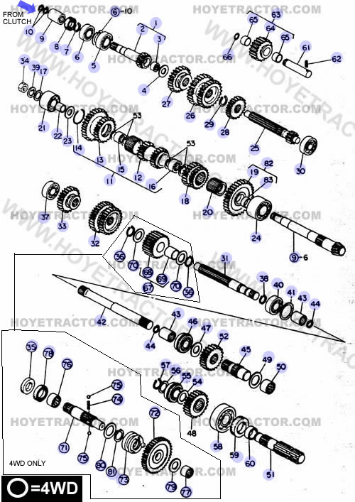 Yanmar Tractor Transmission Parts on Yanmar Tractor Parts Diagram