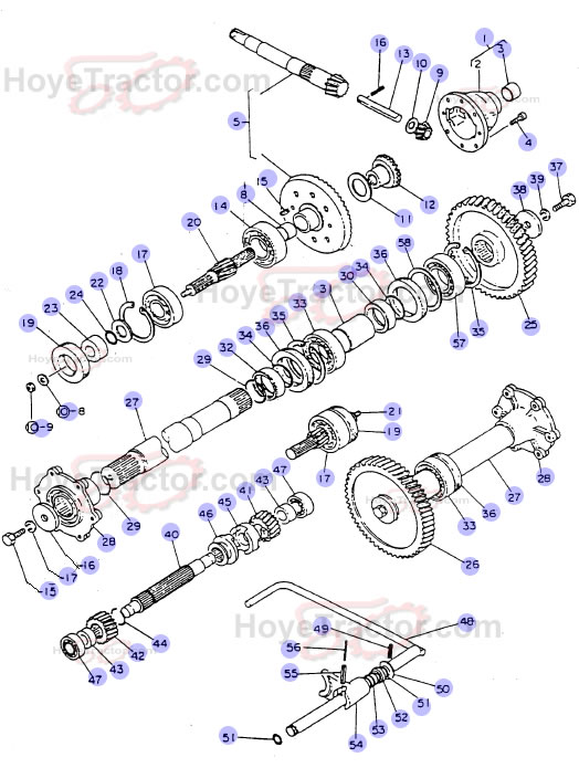 Tractor Rear Axle Parts : Rear axle int g yanmar tractor parts