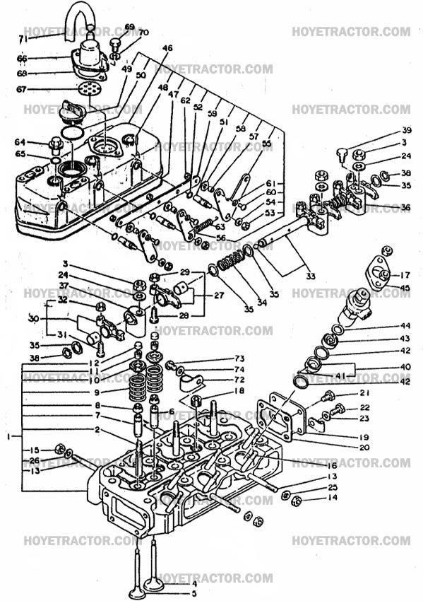 Kubota 1550 Tractor Engine Diagram