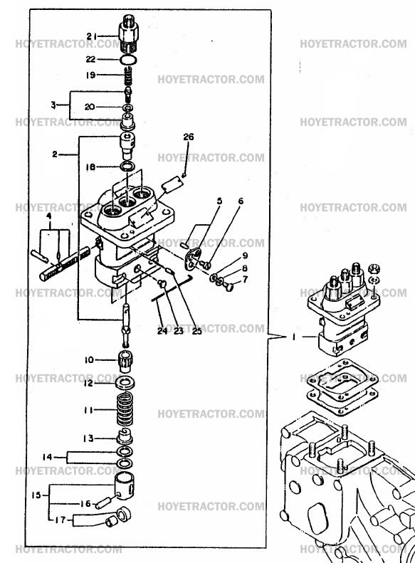 yanmar sel injector pump diagram  yanmar  free engine