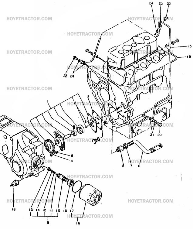 oil system  yanmar tractor parts