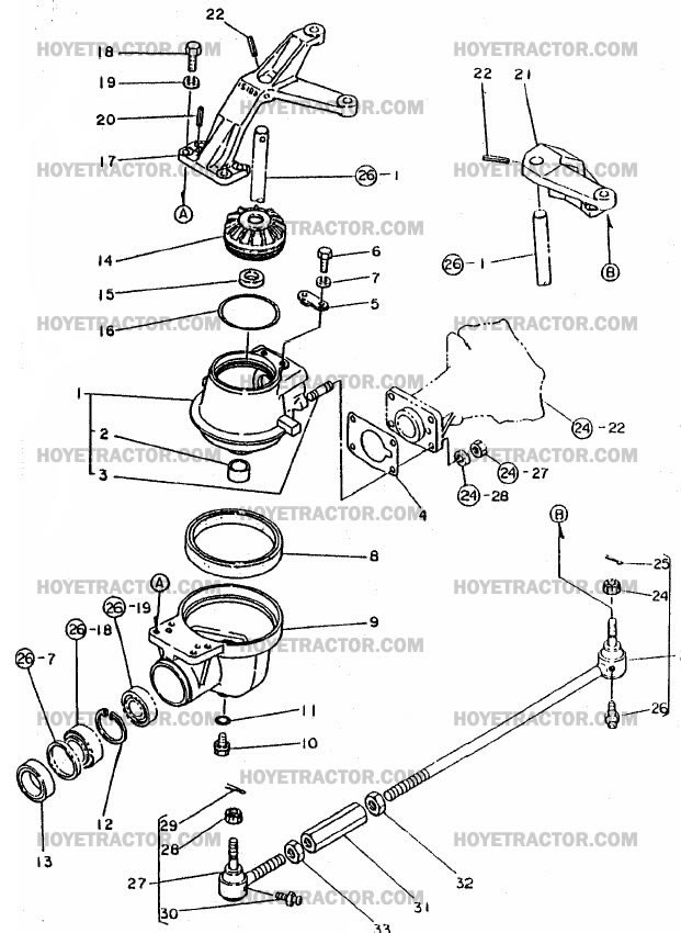 External Parts Of A Tractor : Wd knuckle ext yanmar tractor parts