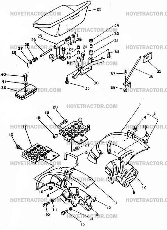 fender   u0026 seat  yanmar tractor parts