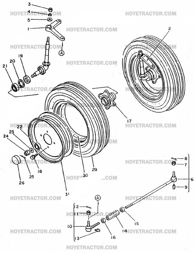 Yanmar 240d 2wd Parts : Wd axle yanmar tractor parts