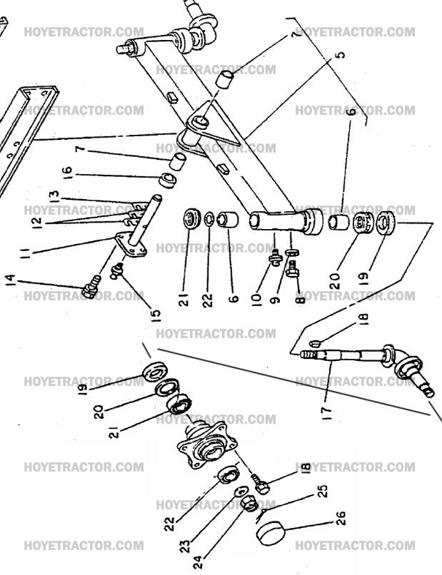 Yanmar 240d 2wd Parts : Wd axle pt yanmar tractor parts