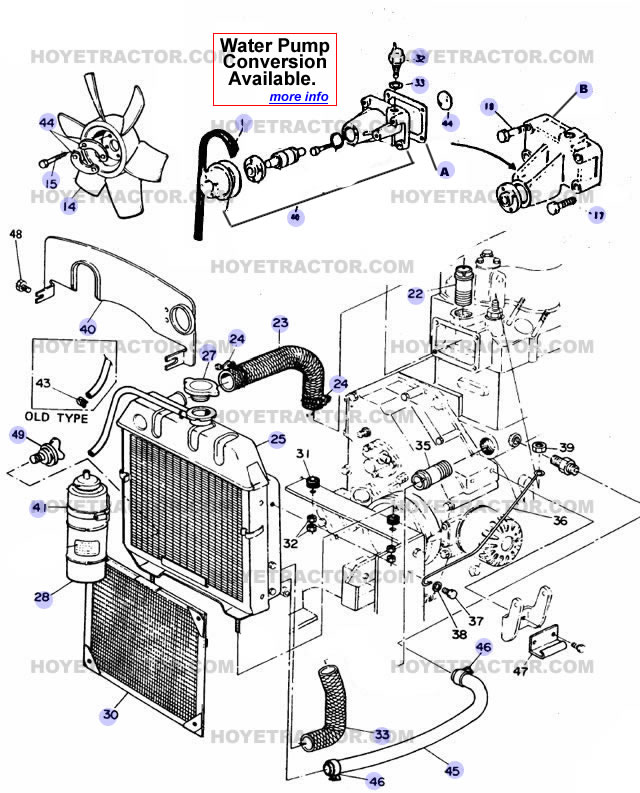 Cooling on Bobcat 643 Parts Diagram