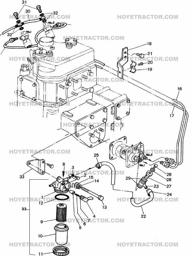 Fuel System Yanmar Tractor Parts