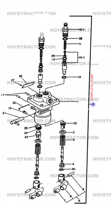 Injector Pump  Yanmar Tractor Parts