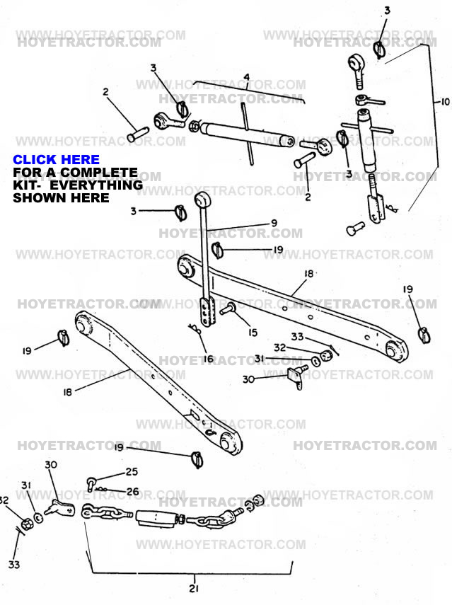 Ford Tractor 3 Point Hitch Parts : N ford tractor point hitch diagram imageresizertool