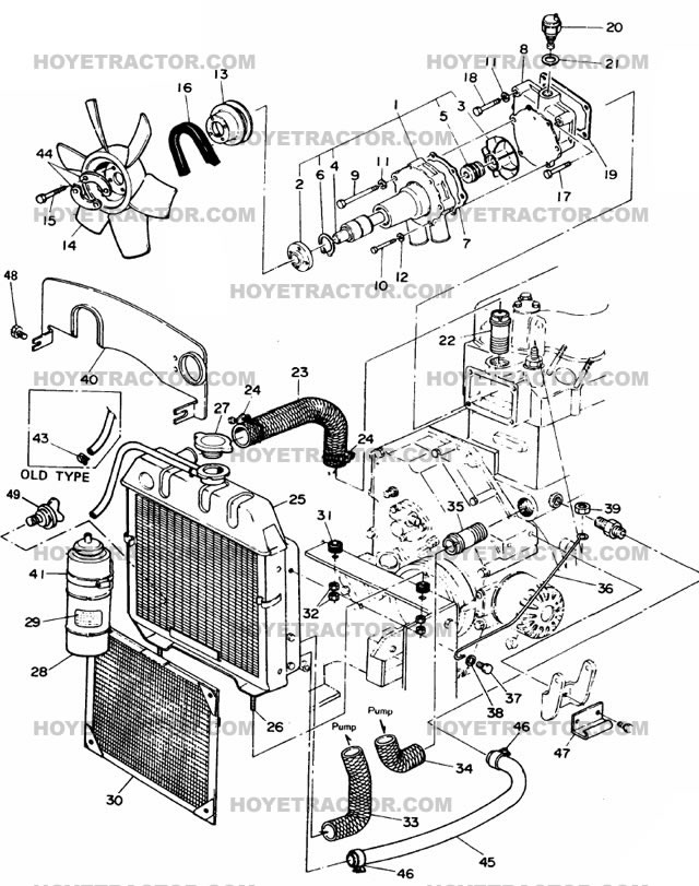 cooling system  yanmar tractor parts
