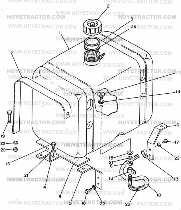 Yanmar 2000 Parts : Fuel tank yanmar tractor parts