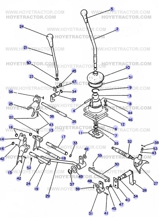 Yanmar 2000 Parts : Shift levers yanmar tractor parts