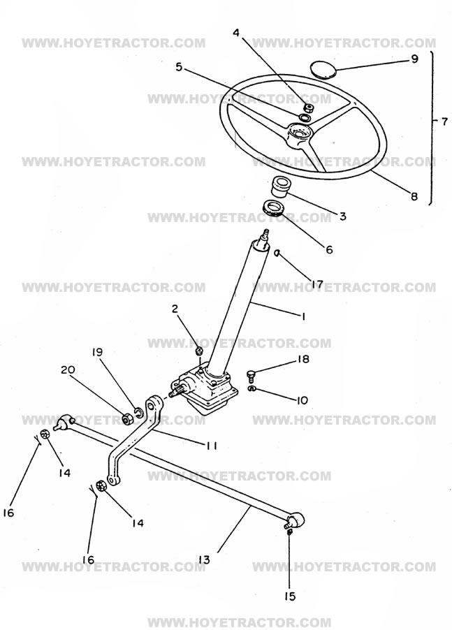 Yanmar 2000 Parts : Steering external yanmar tractor parts
