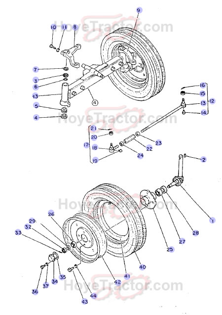 Yanmar 240d 2wd Parts : Wd axle ^ yanmar tractor parts