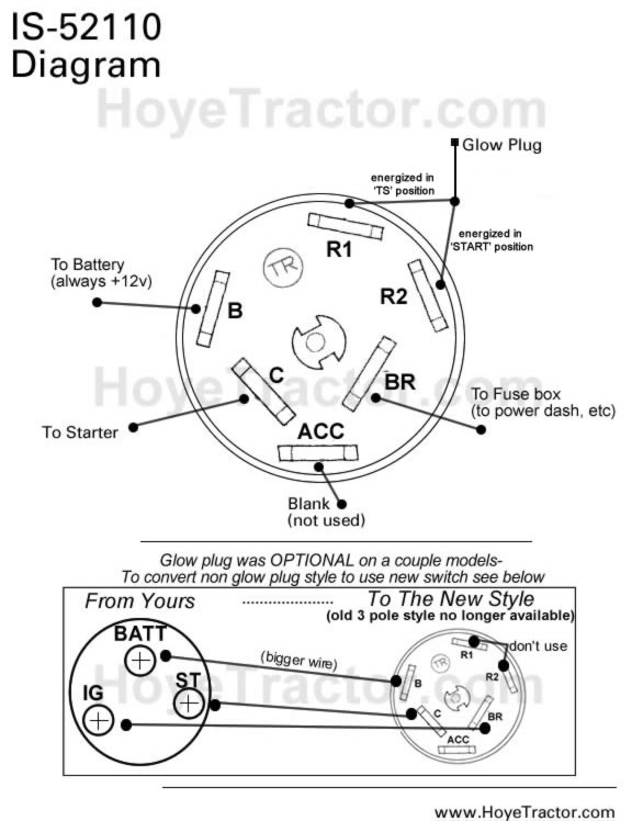 is52110 inst ignition switch original yanmar style yanmar tractor parts 3 wire ignition switch diagram at mifinder.co