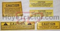 Warning Decal Set (5 Decals)   _